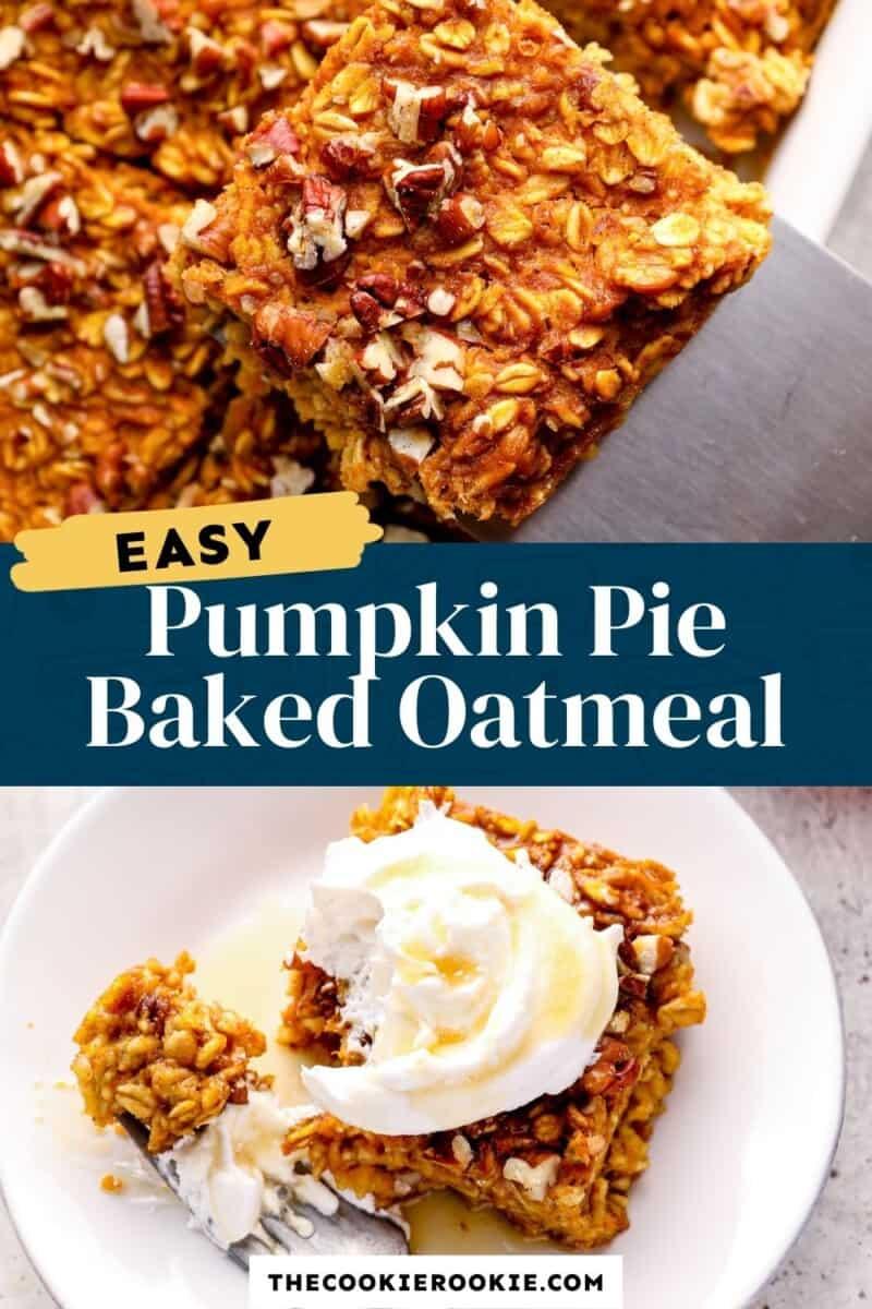 pumpkin pie baked oatmeal pinterest