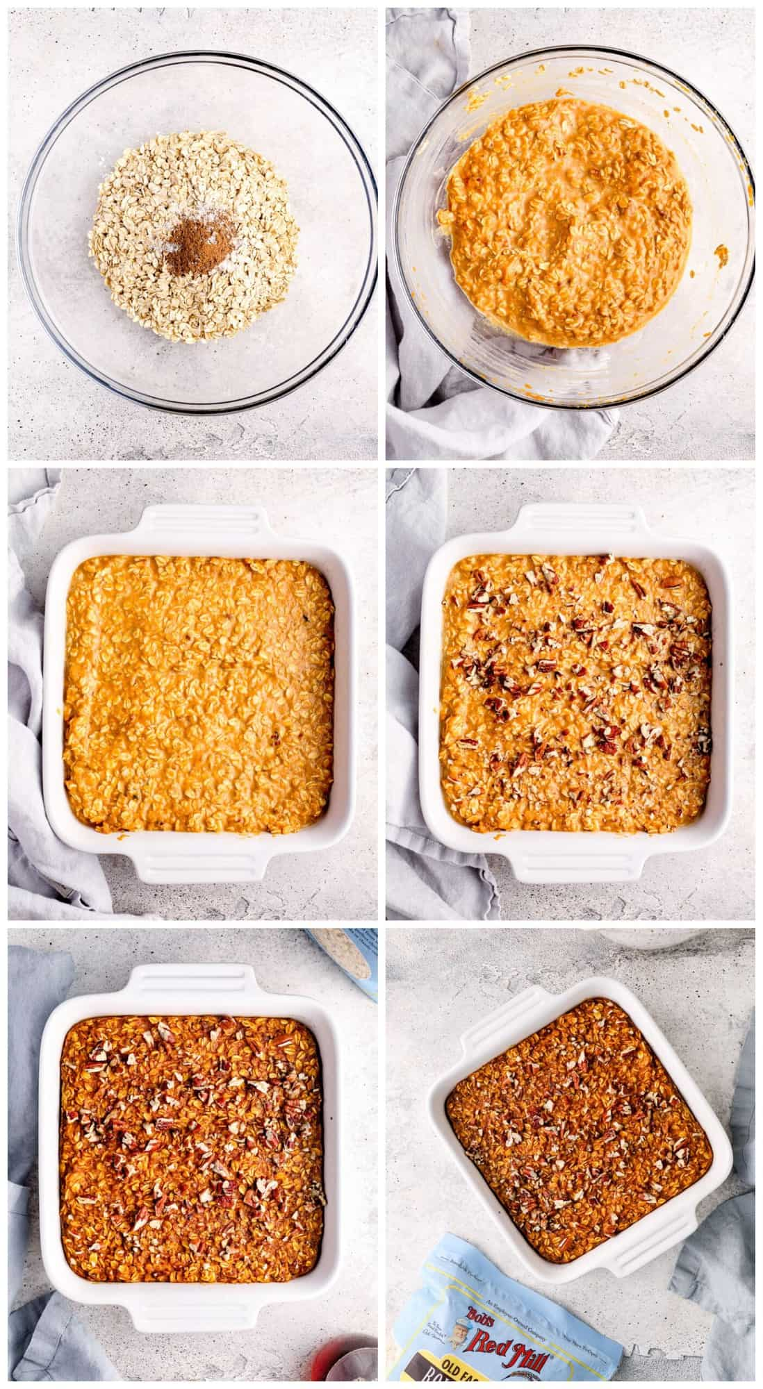 step by step photos for hot to make pumpkin pie baked oatmeal