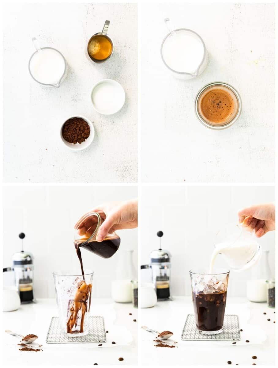 step by step photos for how to make iced mocha