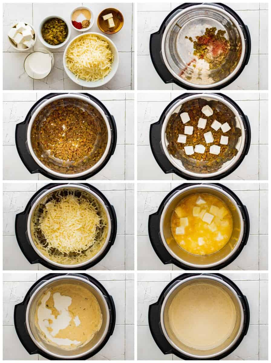 step by step photos for how to make instant pot queso blanco