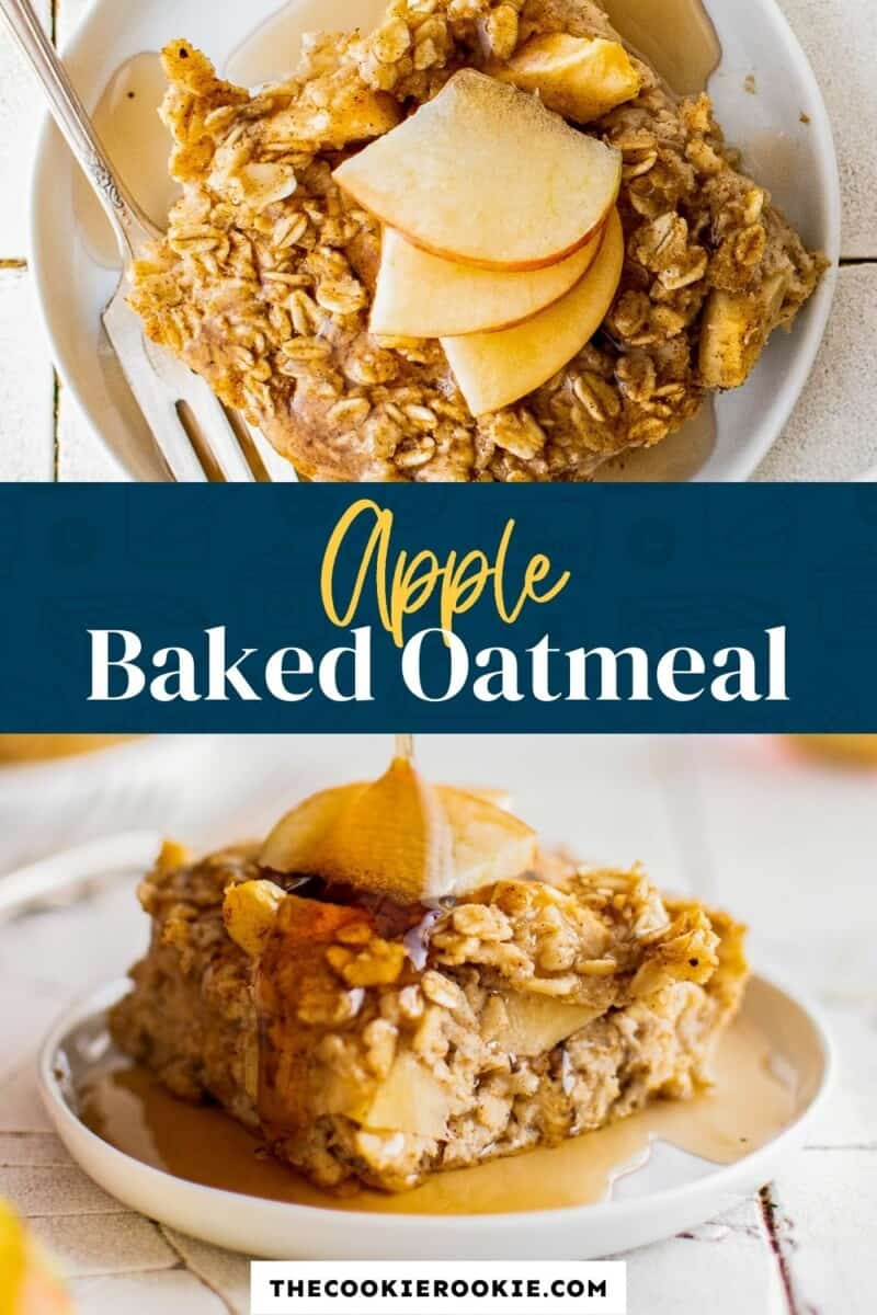 baked apple oatmeal pinterest