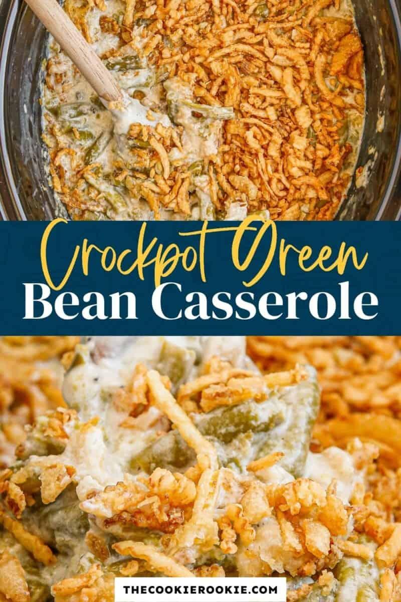 crockpot green bean casserole pinterest