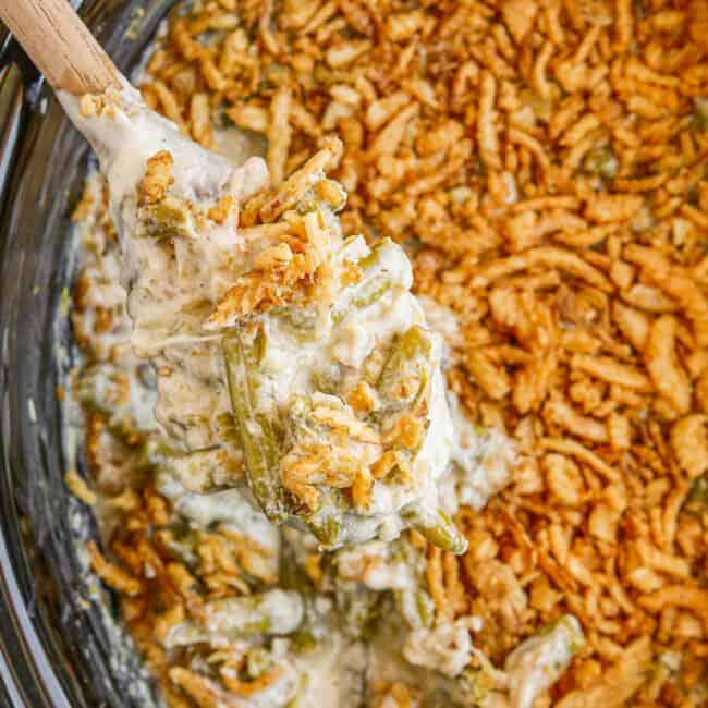 featured crockpot green bean casserole