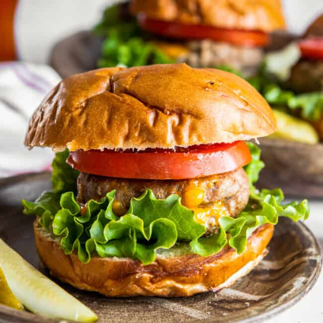 featured juicy lucy turkey burgers