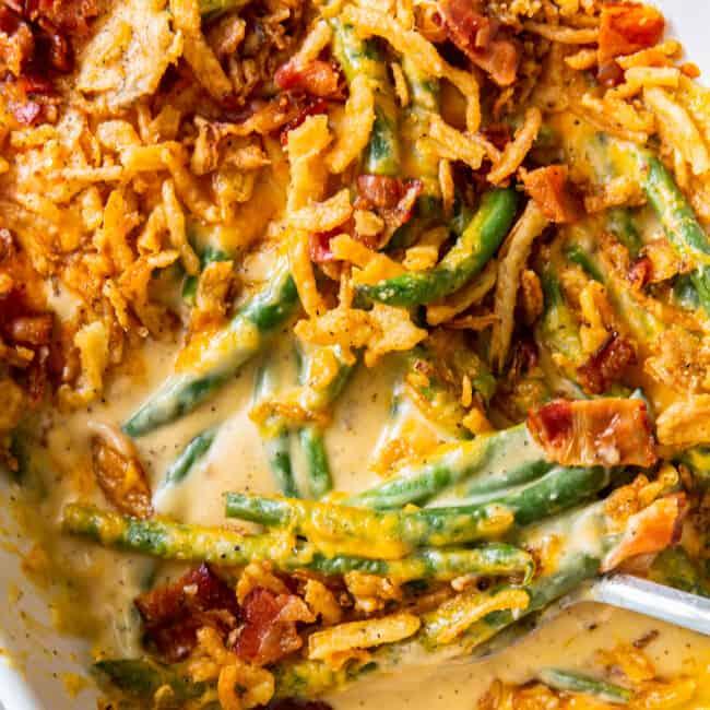 featured loaded green bean casserole