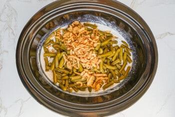 how to make crockpot green bean casserole