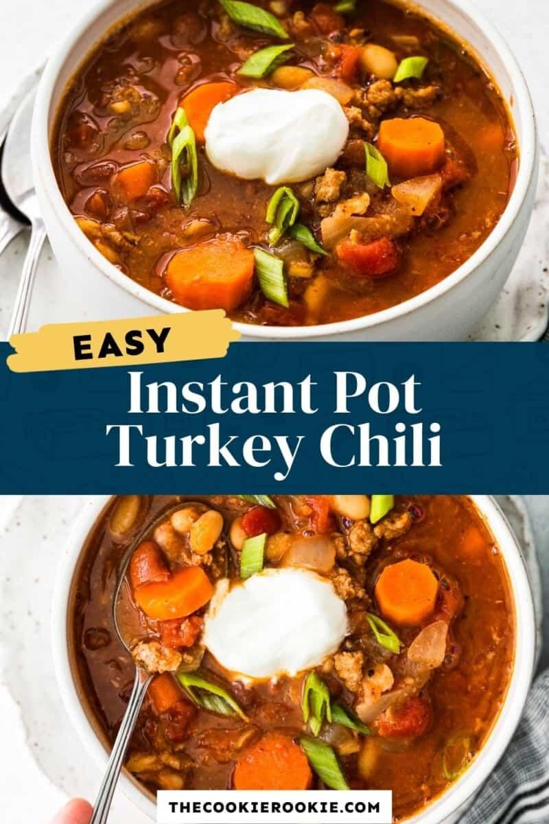 instant pot turkey chili pinterest