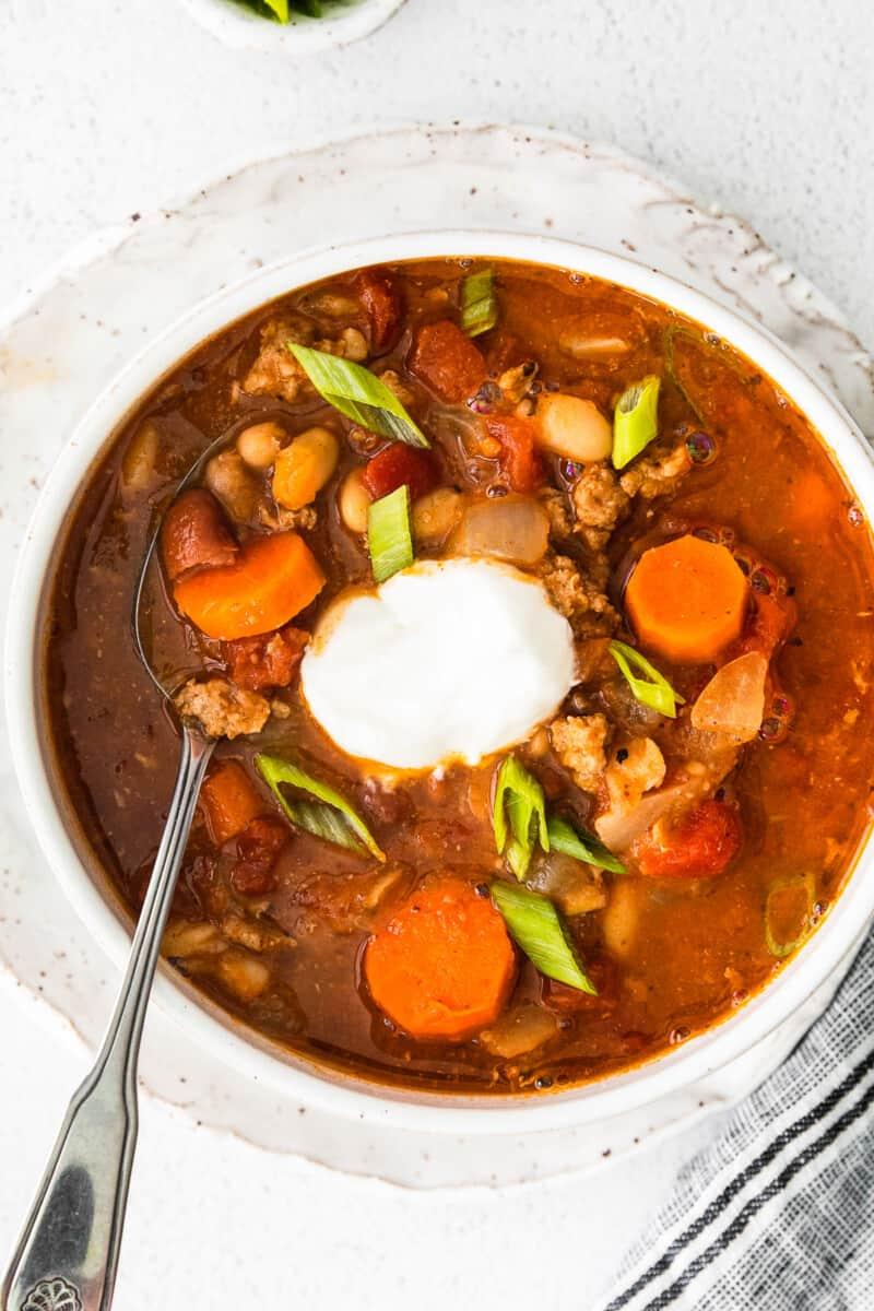overhead instant pot turkey chili