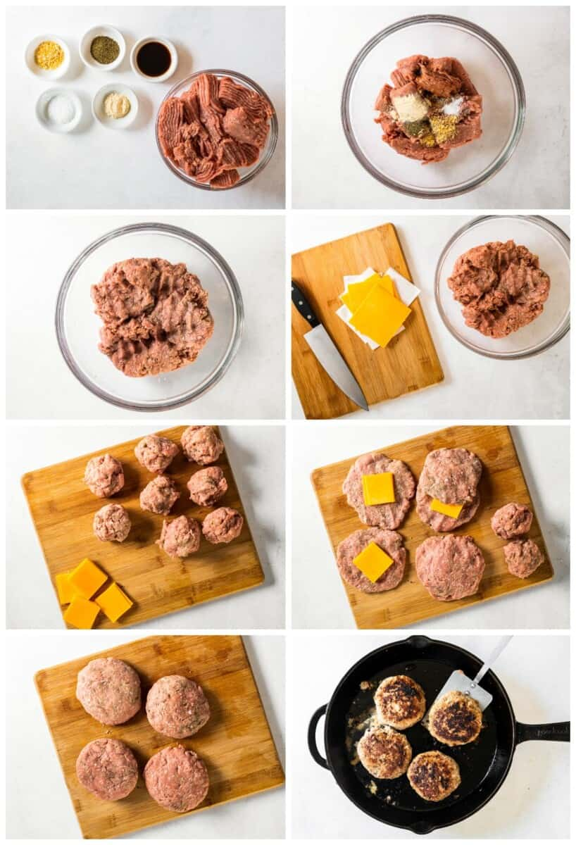 step by step photos for how to make juicy lucy turkey burgers